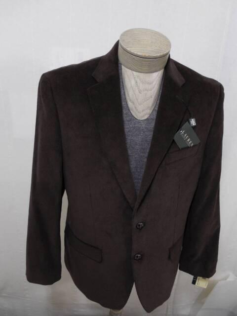 67079e8430a4b5 Lauren Ralph Lauren Mens Corduroy Cotton Coat Blazer Jacket 2-BTN Brown 42L  $295