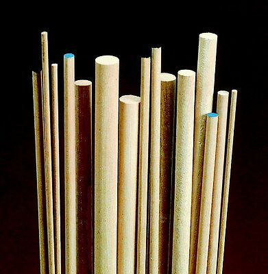 Chenille Kraft Birch Wood Dowels, 3/16 x 36 Inches, Pack of 10