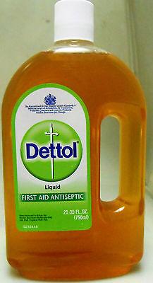 Dettol Liquid First Aid Antiseptic 750 ML / 25.35oz USA SELLER- FAST SHIP!!