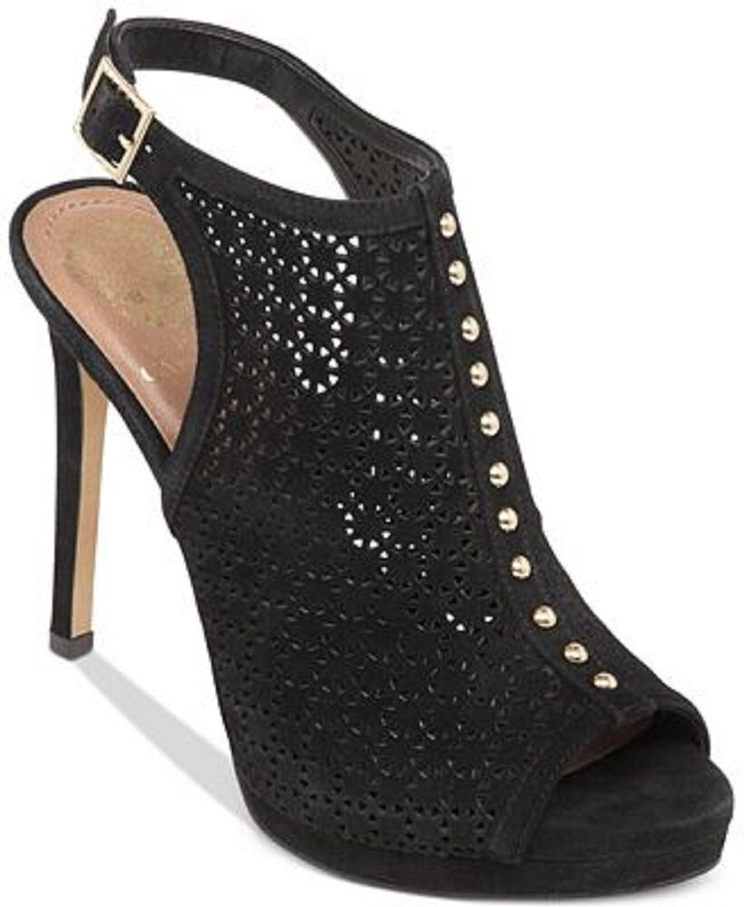 VINCE CAMUTO CALIOPE SLINGBACK PERFORATED HIGH HEEL SANDAL IN BLACK 9 M NIB