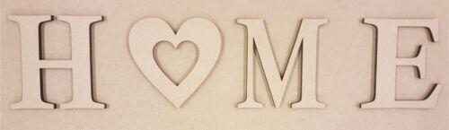 Home 4 x 6 mm épais MDF lettres en bois Choix de Tailles 10 cm à Large 60 cm 2