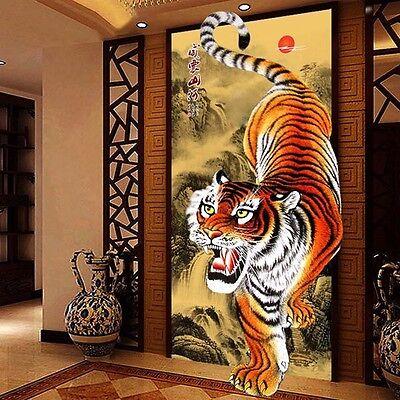 Home Decor Craft Embroider Cross Stitch 5D DIY Tiger Resin Diamond Paintings U90