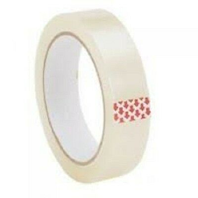 24mm x 50 Metres clear selotape packing tape cellotape 12 Rolls of Tape