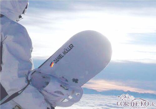 drapeau de l/'Allemagne ● Casque Autocollant ● Vélo snowboard à Cheval Sticker Nom