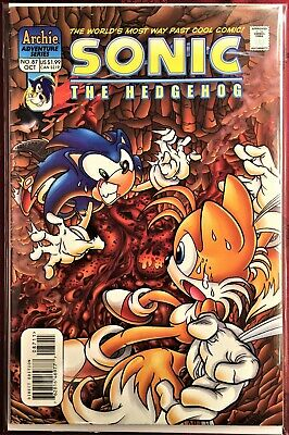 Sonic The Hedgehog Comic Book 87 October 2000 First Ed Bagged Boarded Vf Ebay