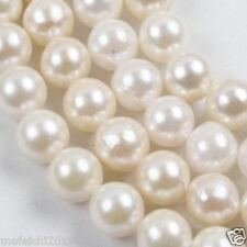 """1 Strands White Saltwater 7-8mm Akoya Pearl Round Loose Beads 15"""""""