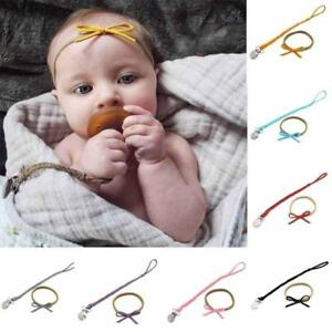 2X/set Leather Pacifier Clips Dummy Holder Braided Nipple Holder Soother Chain Z
