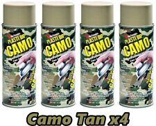 Performix Plasti Dip Camo Tan 4 Pack Rubber Coating Spray 11oz Aerosol Cans
