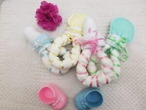 Baby Topper /& Washcloth Set Centerpiece Baby Shower Favors Gift Boy Girls Unisex