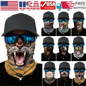 Animal Motorcycle Cycling Bandana Face Masks Tactical Neck Tube Scarf Balaclava Ebay