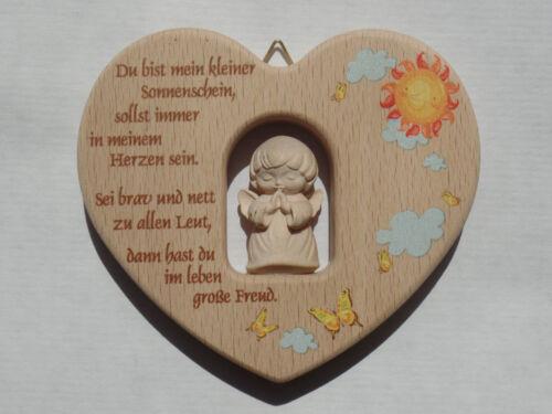 Holzengel Taufgeschenk Geschenk Geburtstag Taufe eines Kindes Kinderherz Holz m