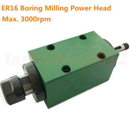 High Speed ER16 Belt Spindle Unit Power Head 3000rpm Boring and Drilling Machine