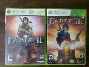 USED - Fable II + III XBOX 360 - Lot of 2 Bundle - Free Shipping