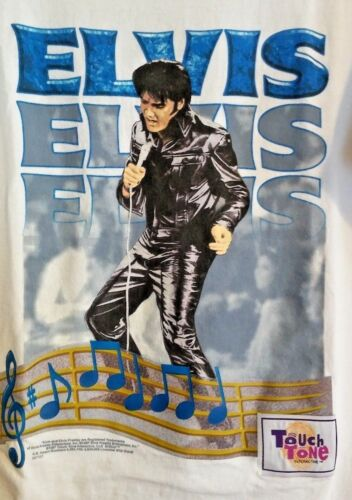 1997 WILD OATS ELVIS T-SHIRT WHITE COTTON TOUCH TO