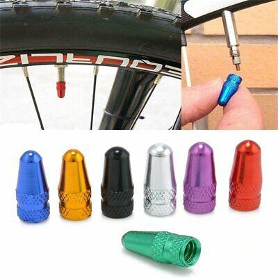 5pcs Bike Bicycle Aluminium Alloy Presta Valve Caps Dust Cover MTB FIX Road Race