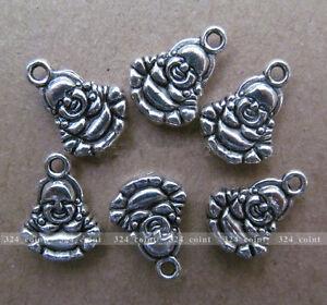 P069-20pcs-Tibetan-Silver-Charm-Double-sided-Buddha-Accessories-Wholesale