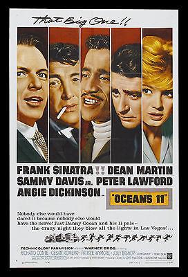 OCEANS ELEVEN * CineMasterpieces OCEAN'S 11 ORIGINAL MOVIE POSTER RAT PACK 1960