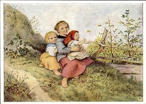 Scheda-di-artisti-arte-artisti-Adrian-Ludwig-Richter-034-Bambini-con-Farfalle-034