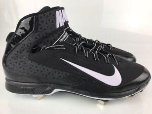 1c77b5dd4f483 Nike Air Huarache 2k Pro Mid Metal Baseball Cleats Men s Sz 14 Black ...