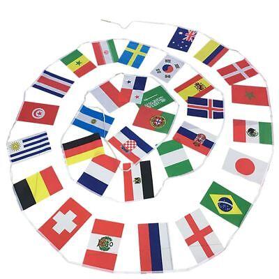 Fuer 2018 FIFA WM Banner Fahnenkette 2018 21. Russland WM Fussball 32 Mannschaft