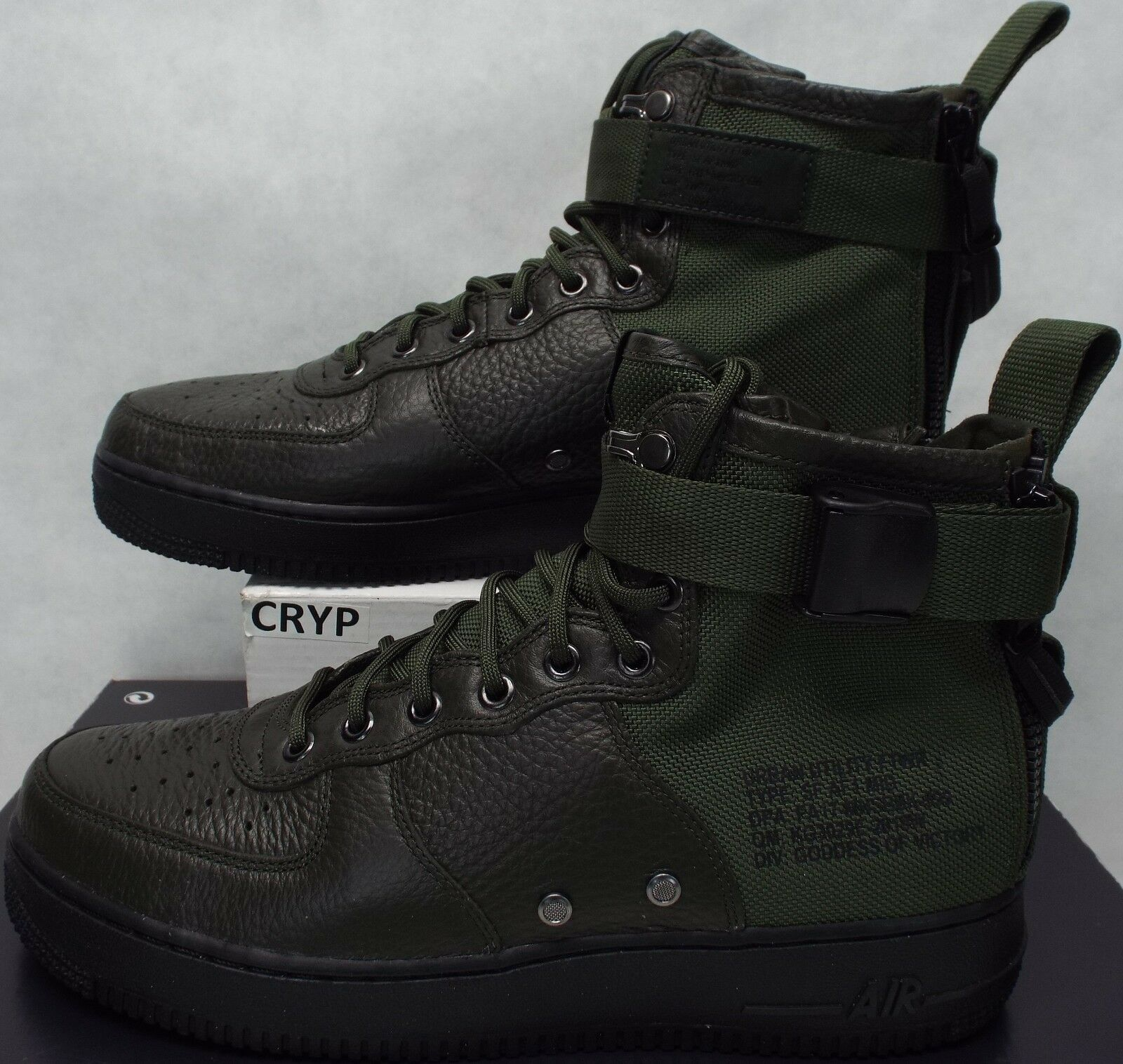 New Mens 10.5 NIKE SF AF1 Mid QS Hunting Hiking Green Black shoes 160 917753-300
