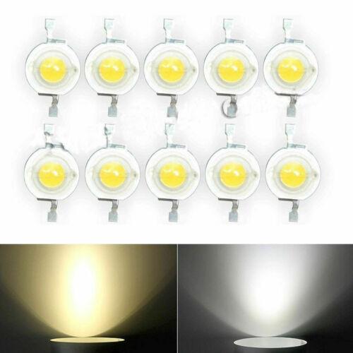 20 ~ 100PCS 3V 1W Nuevo Blanco//Caliente Blanca Alto Rendimiento Lámpara LED Bombillas Hágalo usted mismo de perlas