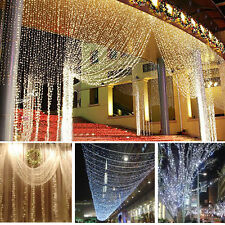 100 LED 10M White Xmas Christmas Party String Fairy Light Lamp Wedding Decor