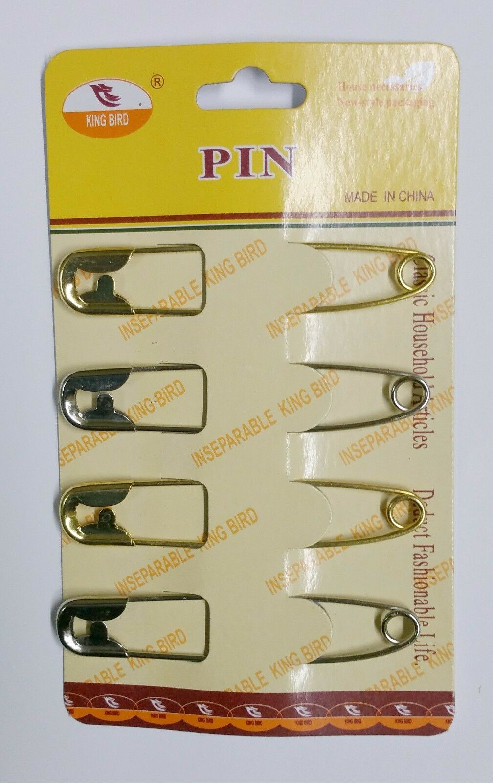4 Jumbo Safety Pins Big Size Silver//Gold Tone NEW 8.5 cm Long 1.5 cm wide