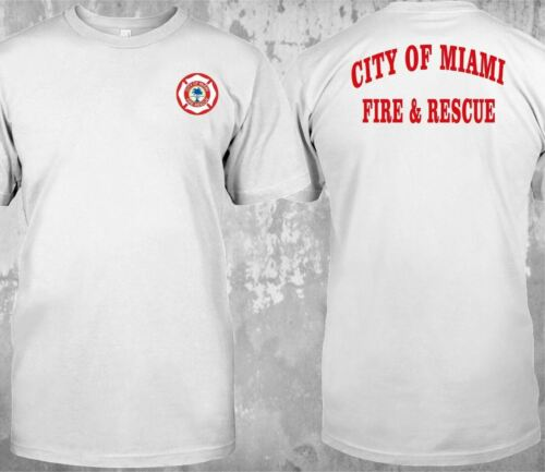 CITY OF MIAMI FIRE RESCUE FIRE DEPARTMENT FIREFIGHTER CUSTOM T-SHIRT