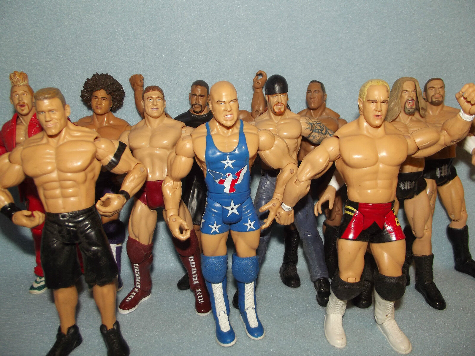 COLLECTION OF WWE ACTION FIGURES WRESTLING LOT
