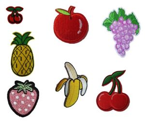 Fruit Iron On Sew On Patches Badges Transfers Fancy Dress Brand New