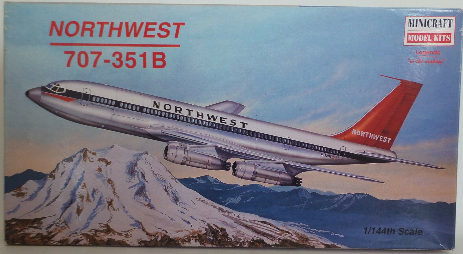 AVIATION   NORTHWEST 707-351-B 1 144 SCALE MODEL KIT MADE BY MINICRAFT