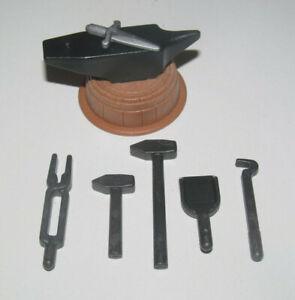 Playmobil-Accessoire-Decor-Lot-Atelier-Medievale-Forge-Forgeron-NEW