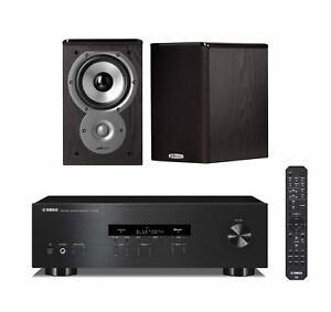 Image Is Loading Yamaha RS202BL Stereo Receiver W Polk Audio TSi
