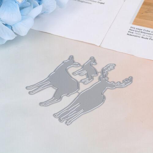 Metall Weihnachten Hirsch Stanzformen Neu für Scrapbooking DIY Craft Card MRSJF