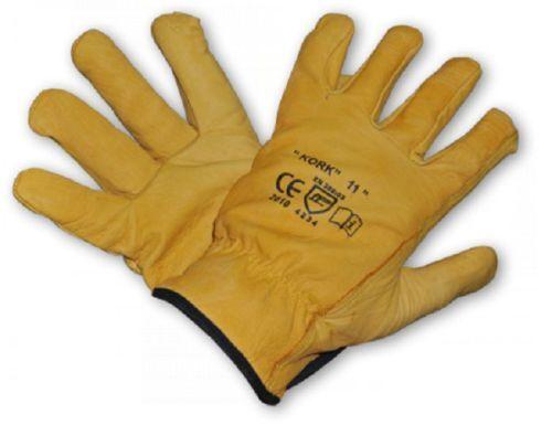 Gr ungefüttert Rindsleder gelb Leder Arbeitshandschuhe Handschuhe 11