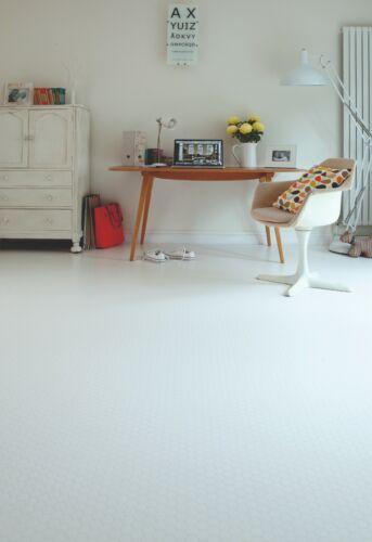 White Studded Vinyl cushion Flooring Roll  Lino Kitchen Bathroom 3mm thick