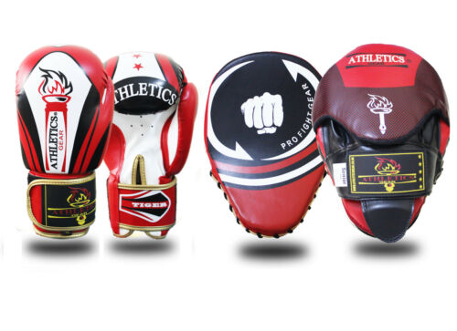 Focus Pads and Boxing Gloves Set Hook /& Jabs Mitt Punch Bag MMA Strike Punch Bag