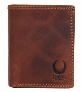 TUV-RFID-Herren-Geldbeutel-Leder-Geldboerse-Hochformat-Portemonnaie-Brieftasche