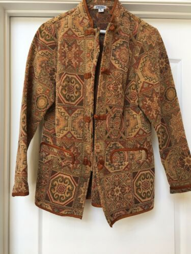 Tapestry Størrelse Cotton Blazer Nwot S Weekend Demokrati Blend Jacket Gorgeous wnapExqBC