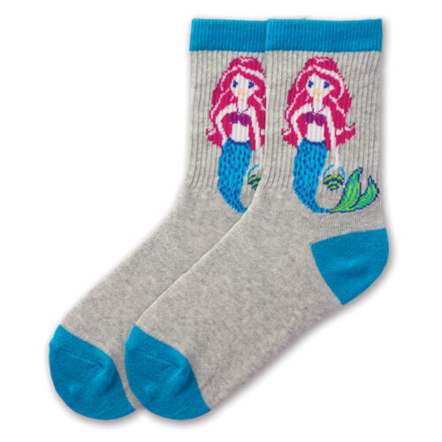 K.Bell Toddlers Pk Blue Mermaid Childrens Cotton Blend Socks Kids Size 6-8.5 New