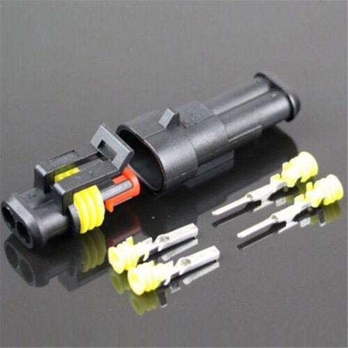 15 Set 2//3//4-Polig KFZ Kabelverbinder Stecker Wasserdicht Steckverbindung Auto