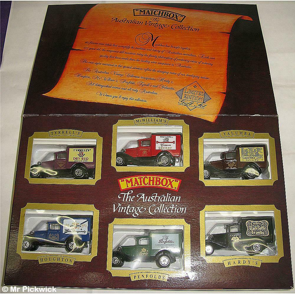 MATCHBOX AUSTRALIAN VINTAGE  MODEL T FORD WINERY VAN COLLECTION Diecast Model MIB  grand choix et livraison rapide