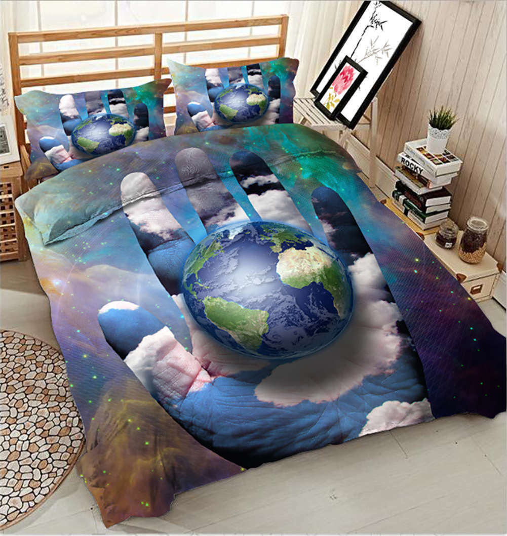Cherish The Earth 3D Printing Duvet Quilt Doona Covers Pillow Case Bedding Sets