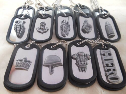 """1x Decorative Military//Army Twin Dog Tag Necklace 29/"""" Ball Chain Stainless Steel"""