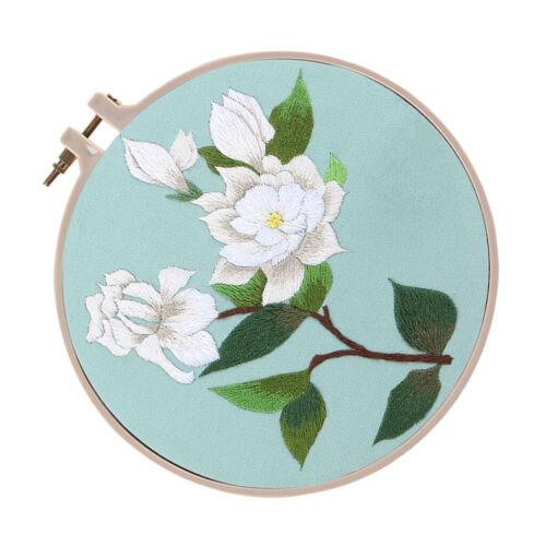 Su Embroidery Theme DIY Needlework Kits Embroidery Hoop Cross Stitch Crafts
