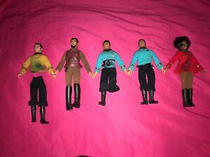 Lot-of-5-Vintage-1970-039-s-Star-Trek-Mego-Action-Figures-Spock-Uhura-Mccoy-Kirk