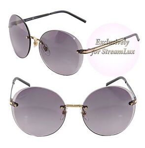 a2017de5d3f Gucci Round Rimless Sunglasses