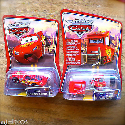 Disney PIXAR Cars MY NAME IS NOT CHUCK & TONGUE MCQUEEN diecast lot 2 bundle set
