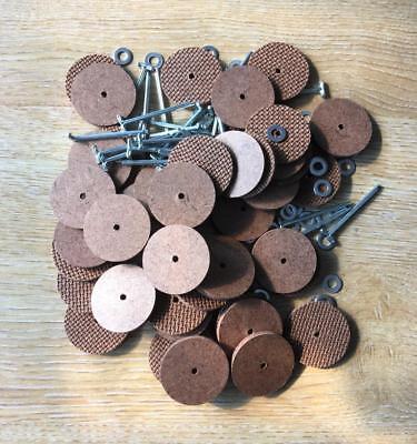 30mm Teddy Bear Coppiglia Giunti (faesite) X 25 Pin & 50 Dischi (per 5 Bears)-mostra Il Titolo Originale
